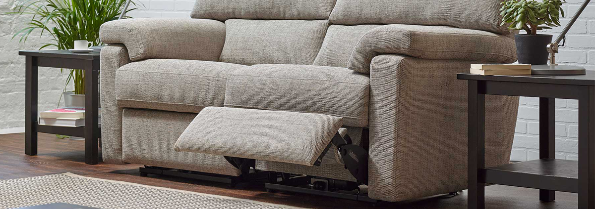 Fabric 2 Seater Power Recliner Sofas