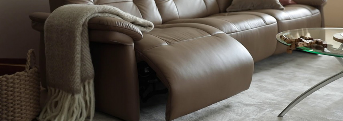 Leather 3 Seater Manual Recliner Sofas