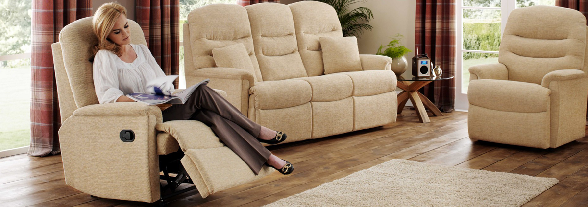 Fabric Manual Recliner Chairs